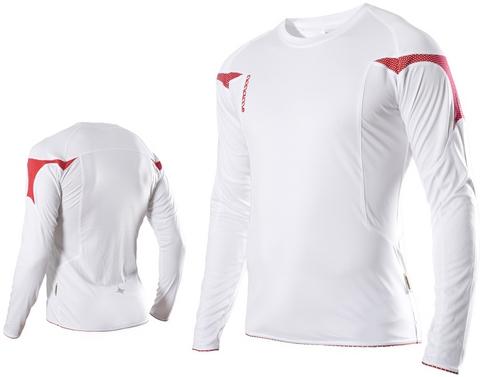 Футболка Noname Running Top 2010, белый-красный