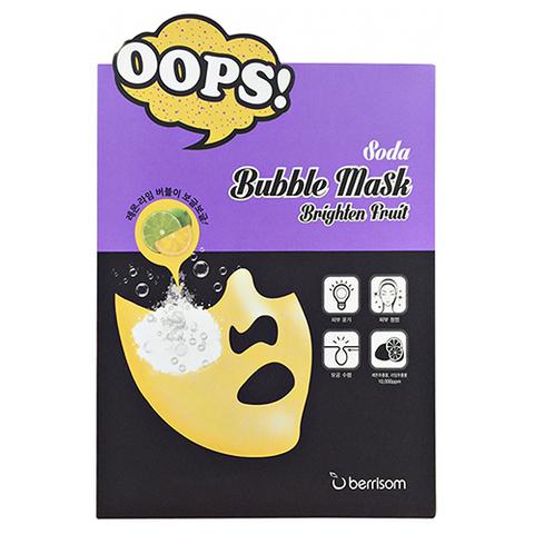 Berrisom Soda Bubble Mask Brighten Fruit маска-пилинг для сияния кожи
