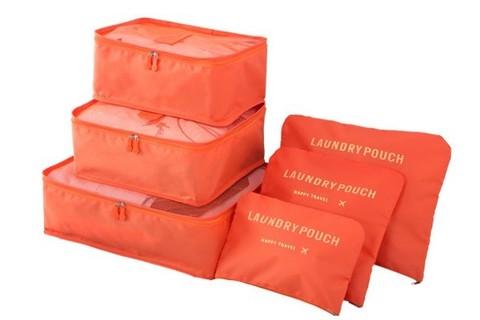Дорожный набор из 6 предметов (оранжевый)