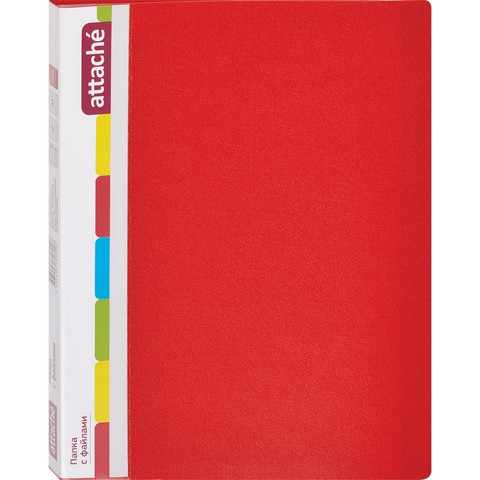 Папка файловая на 30 файлов Attache красная