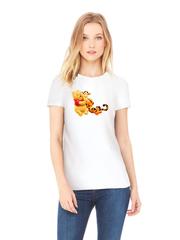 Футболка с принтом мультфильма Винни-Пух, Тигра (Winnie the Pooh) белая w0019