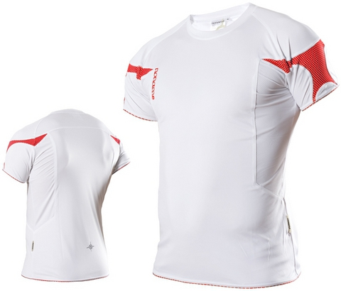 Футболка Noname Running 2010, белый-красный