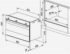 Встраиваемый духовой шкаф Korting OKB 10809 CRI схема