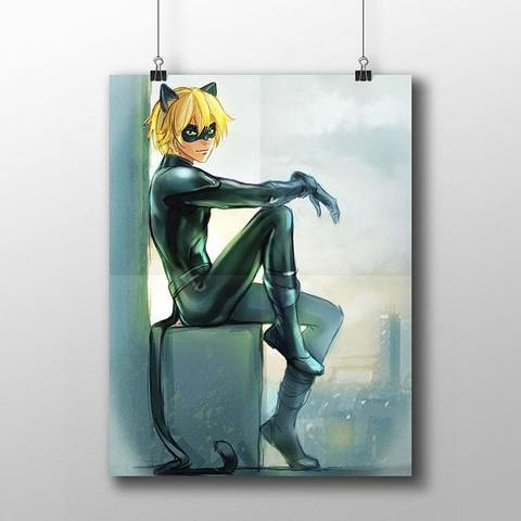 Плакат с Супер Котом №1