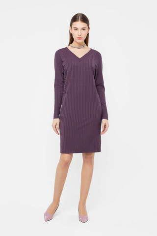 Фото фиолетовое платье с рукавом «летучая мышь» свободного покроя - Платье З408-626 (1)