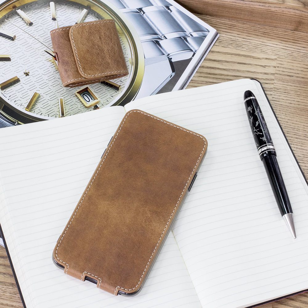 Чехол для iPhone Xs Max из натуральной кожи теленка, цвета винтаж