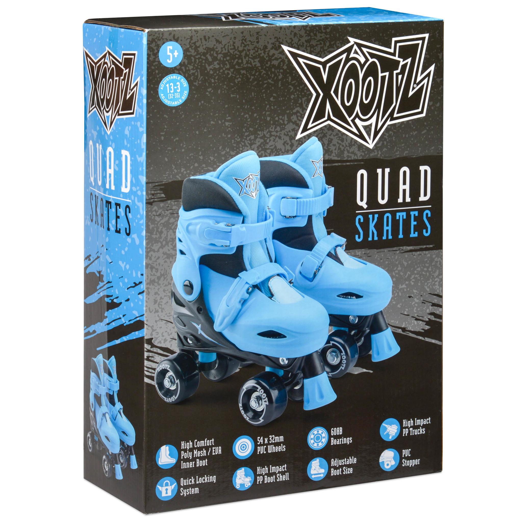 Ролики Xootz. Раздвижные. Синие