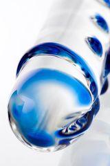 Двусторонний прозрачный фаллос из стекла - 20 см.