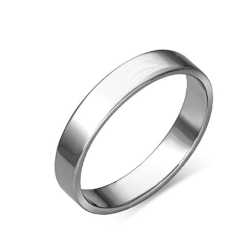 01-4277-00-000-2100-45 - Обручальное кольцо из платины 950 пробы