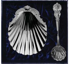 Серебряный набор «Волна»