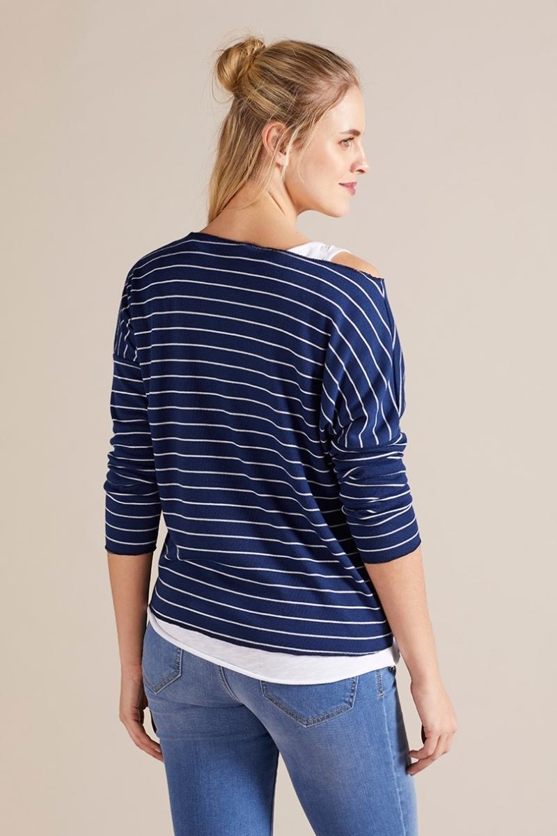 Джемпер для беременных 09787 синяя полоска