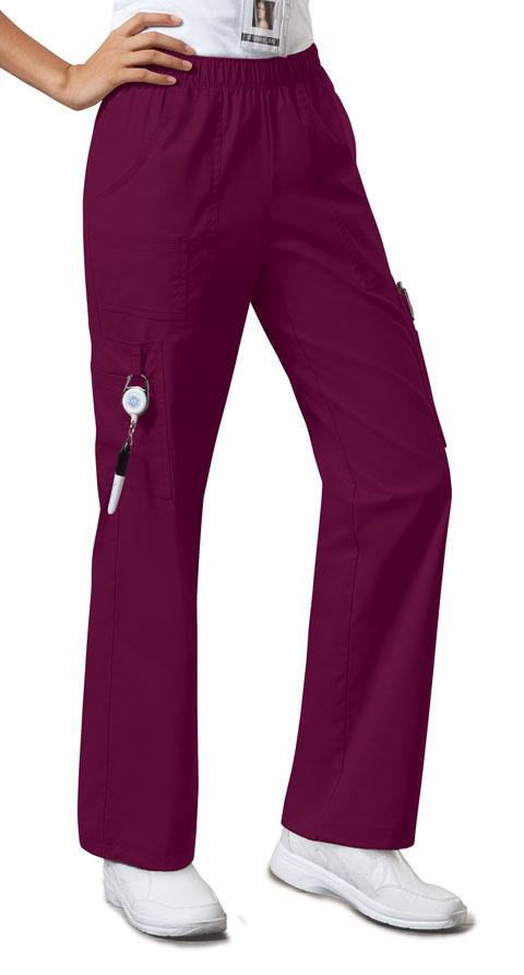 Брюки унисекс на высокий рост бордового цвета Cherokee Workwear
