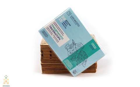 Трицератопс UNIT (UNIWOOD) - Деревянный конструктор, 3D пазл, сборная модель