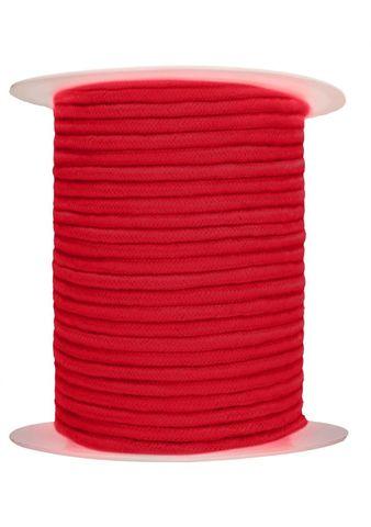 Красная веревка для связывания Bondage Rope - 100 м.