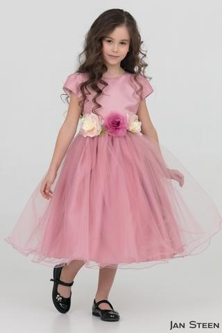 Нарядное платье с цветами (арт.DZ816)