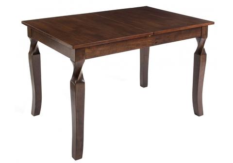 Стол деревянный кухонный, обеденный, для гостиной раскладной Indi cappuccino 120 - 150*120 - 150*76 Cappuccino