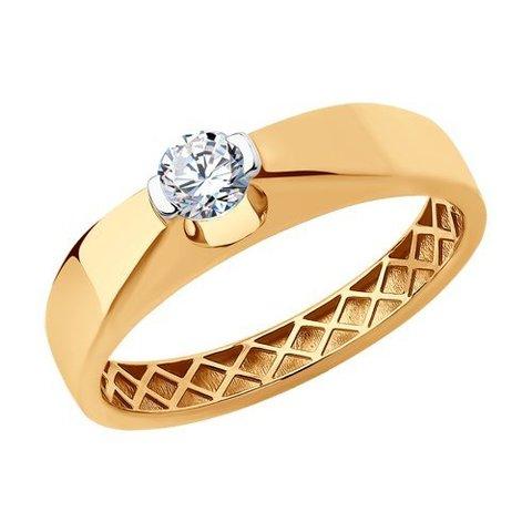 018769 - Помолвочное кольцо из золота с фианитом