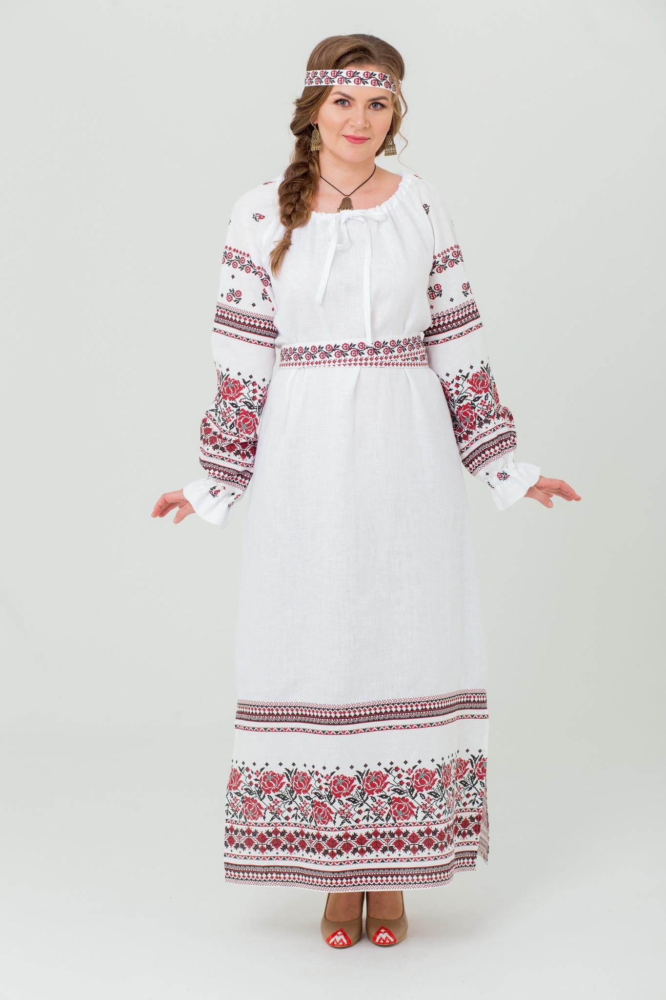 Платье Женское счастье льняное купить