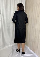 Лайма. Стильна комбінована замшева сукня. Кемел