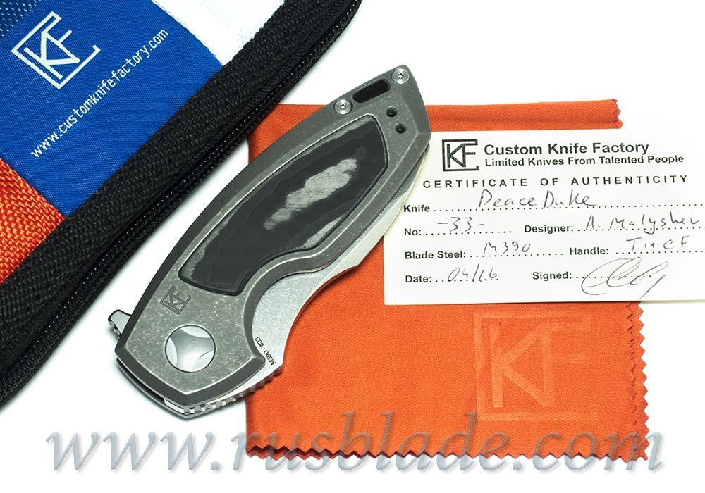 CKF PeaceDuke (M390, Ti, undirectional CF)