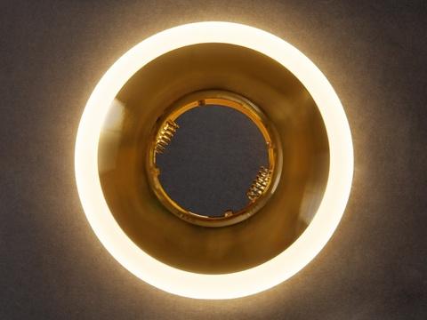 Встраиваемый Светильник GP-8112-3W-GO Золото+Диодная подсветка