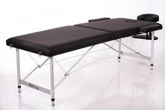 Массажный стол деревянный 2-хсекционный RESTPRO ALU 2L Black