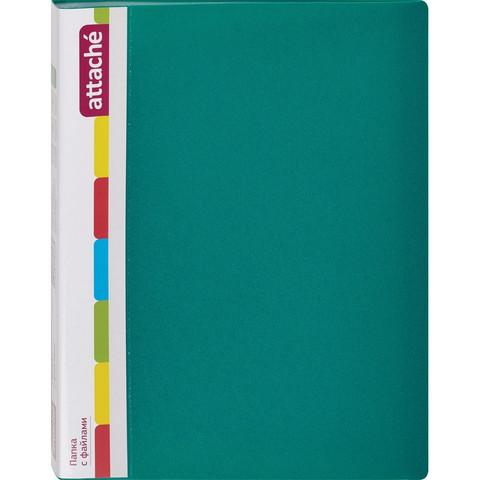 Папка файловая на 30 файлов Attache зеленая