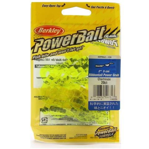 Приманка силиконовая Berkley Powerbait Ribbontail Grub MPRG2-CH Chartreuse 2
