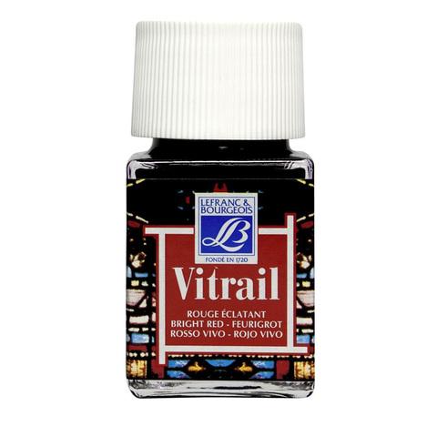 Краска по стеклу Lefranc&Bourgeois VETRAIL 50 мл 433, ярко-красный