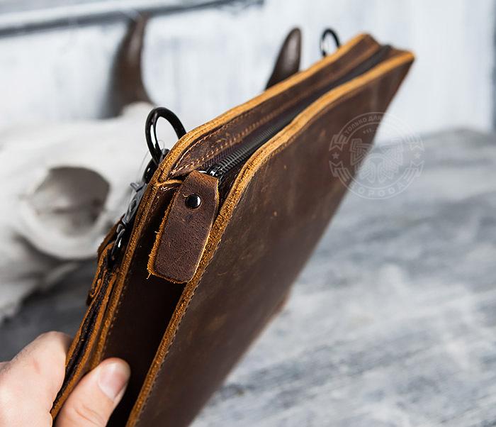 BAG417-2 Мужская деловая папка из кожи с ремнем на плечо фото 12