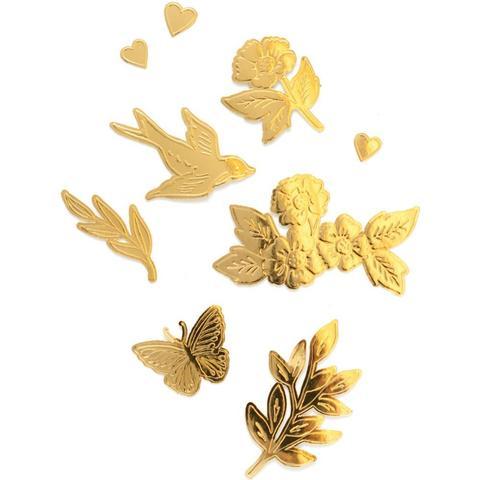 Стикеры Maggie Holmes Sunny Days Embossed Die-Cuts Gold Foil Coated-10х17см