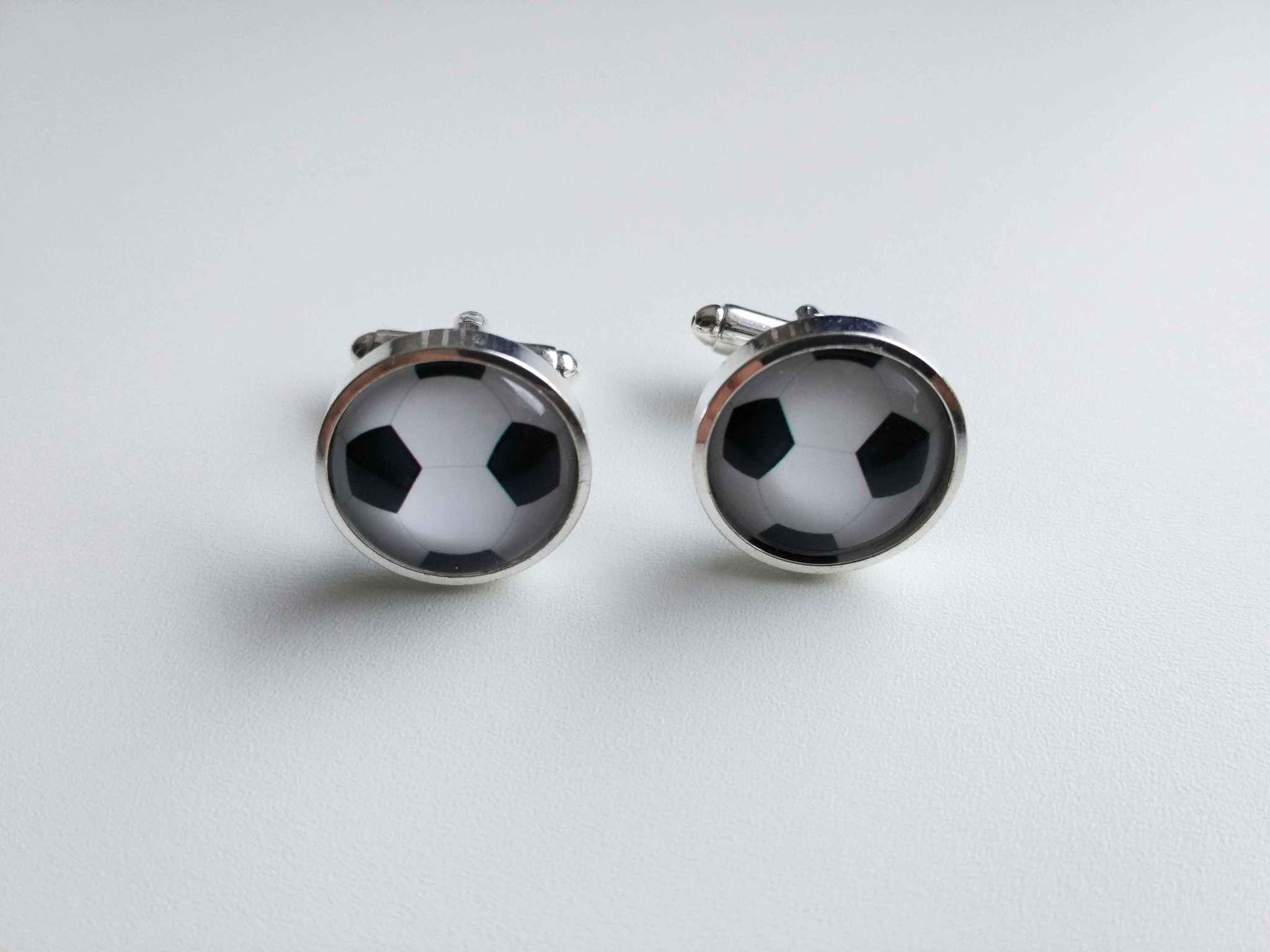 Запонки Футбольный мяч 2 (интернет-магазин украшений LKdesign)