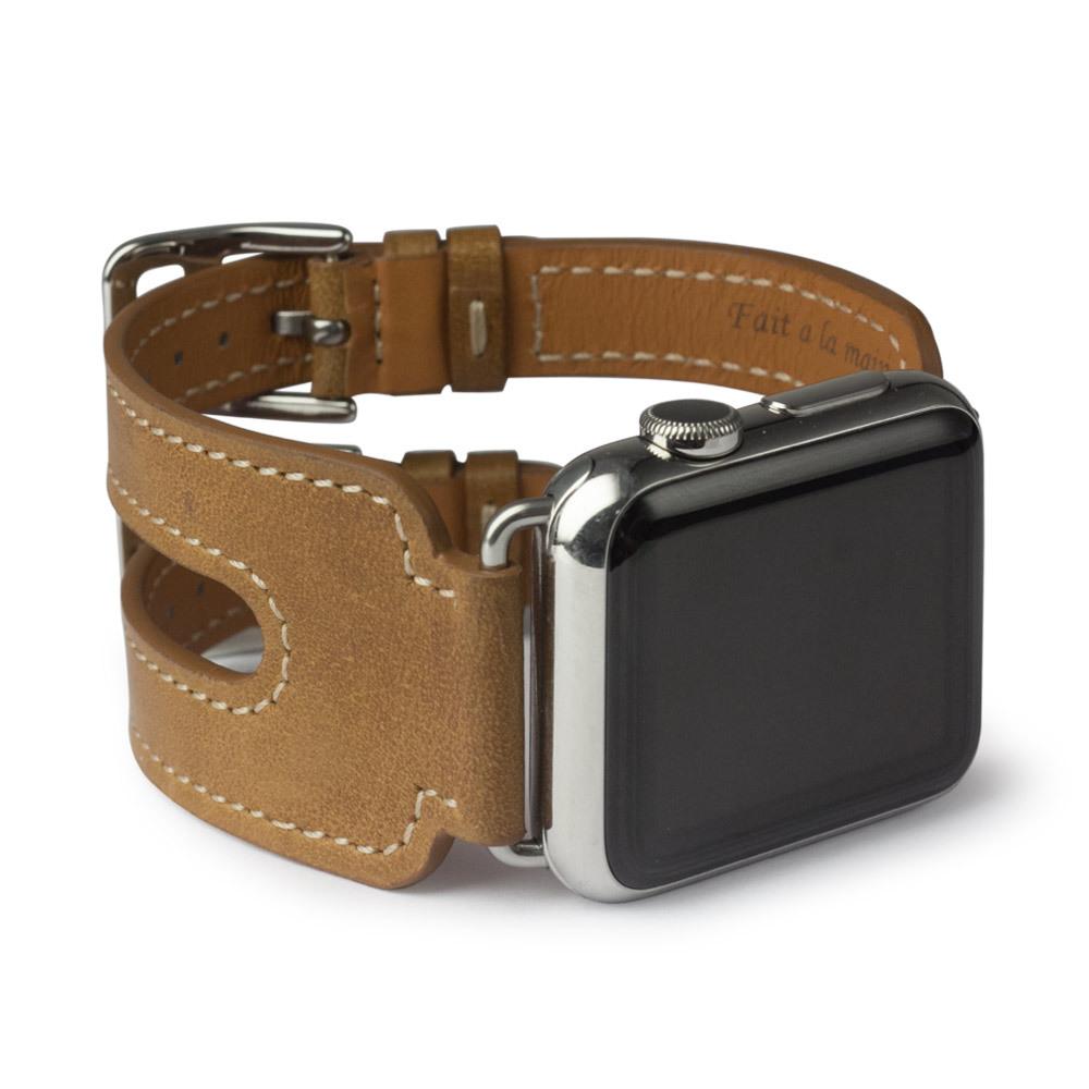 Ремешок для Apple Watch 38мм ST Double Buckle из натуральной кожи теленка, цвета винтаж