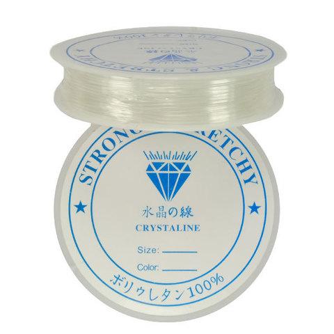 Спандекс прозрачный 1,0 мм - силиконовая нить