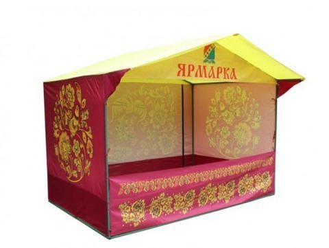 Торговая палатка с логотипом «Домик» 3 x 2 из трубы Ø 25мм
