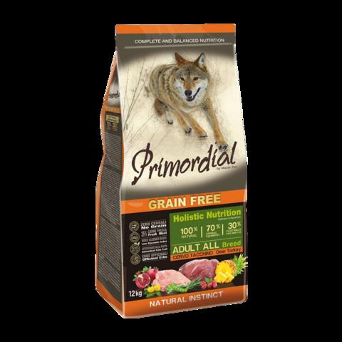 Primordial Сухой корм для собак с олениной и индейкой (беззерновой)