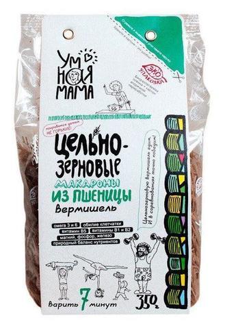 Умная мама макароны цельнозерновые пшеничные Вермишель 350 г