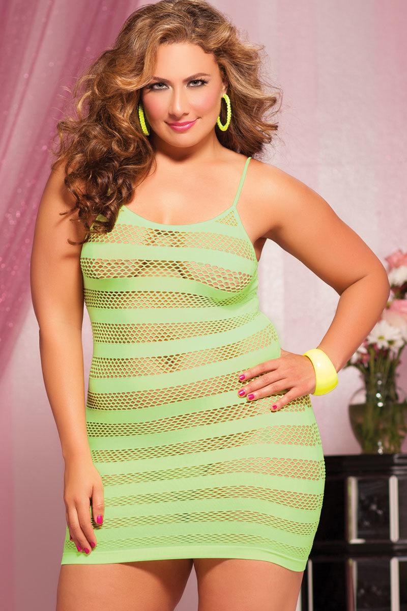 Платье увеличенного размера в полоску