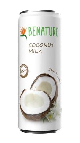 Молоко кокосовое Benature ж/б 250мл