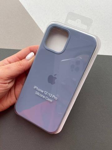 Чехол iPhone 12 (6,1) Silicone Case Full /lavender gray/
