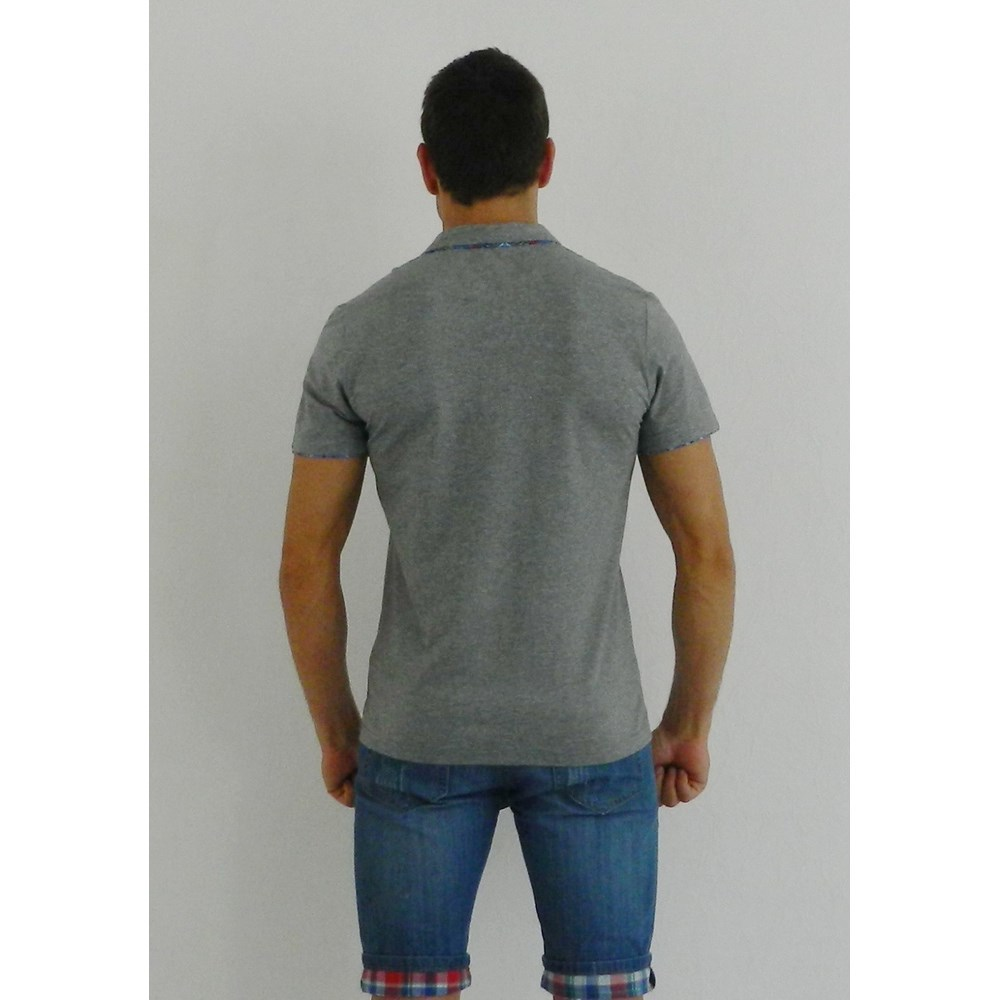 Мужская футболка поло серая ETRO