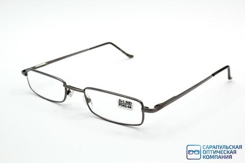 Очки готовые для зрения лектор  в узком металлическом футляре ELIFE 5070 GREY (