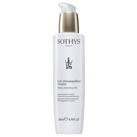 Очищающее молочко для нормальной и комбинированной кожи с экстрактом грейпфрута Sothys Vitality Cleansing Milk, 200 мл.