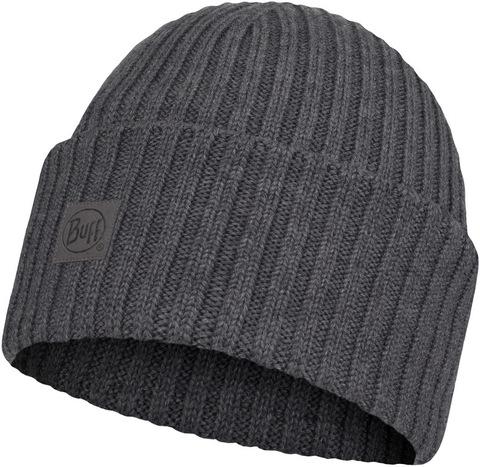 Вязаная шерстяная шапка Buff Hat Wool Knitted Ervin Grey фото 1