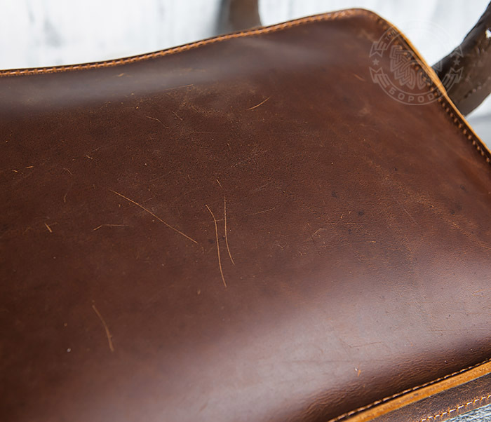 BAG417-2 Мужская деловая папка из кожи с ремнем на плечо фото 13
