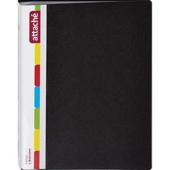 Папка файловая на 40 файлов Attache черная