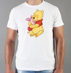 Футболка с принтом мультфильма Винни-Пух (Winnie the Pooh) белая 0016