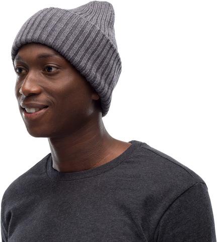 Вязаная шерстяная шапка Buff Hat Wool Knitted Ervin Grey фото 2
