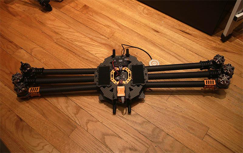 Общий вид сложенной рамы гексакоптера Tarot T810