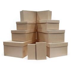 Набор Подарочных Коробок 10 В 1, Крафт Бумага, 305*200*128,5 см, 1 набор.